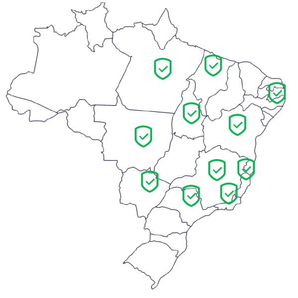 mapa atendimento brasil